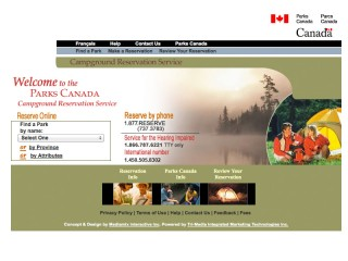 Parks Canada Reservation Service
