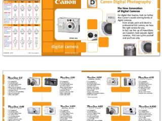 Canon – Spec Guide Brochure